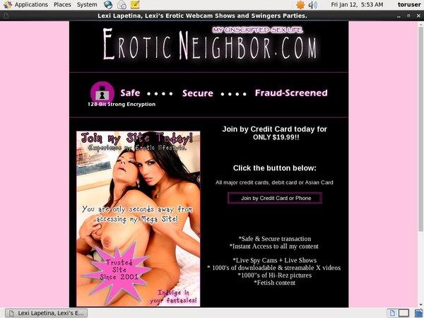 Eroticneighbor.com Trial Membership