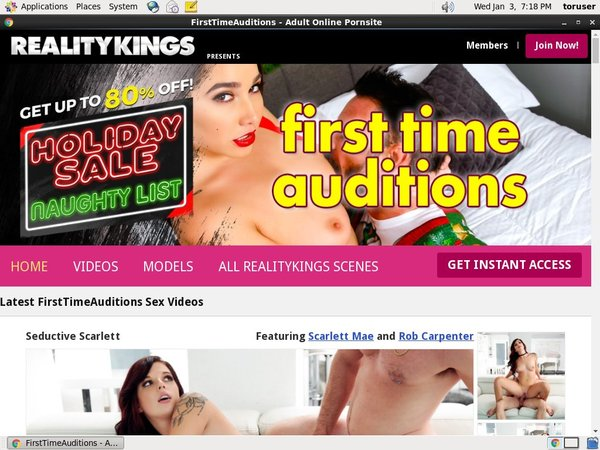 First Time Auditions Nude