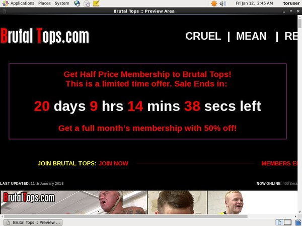 Free Account For Brutaltops.com