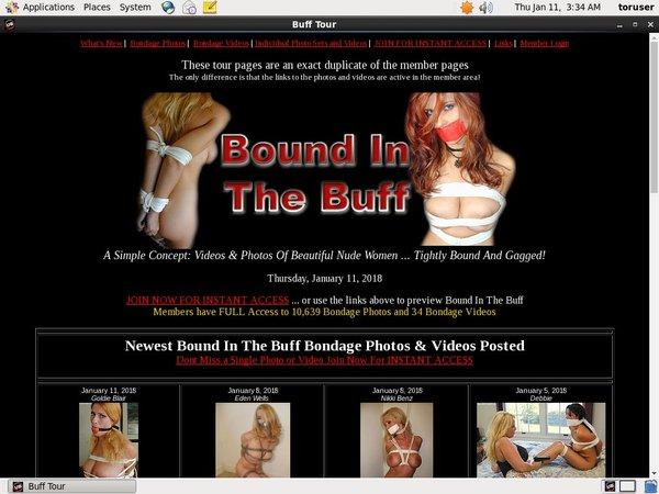 Free Boundinthebuff.com Acc