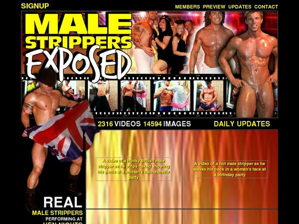 Male Strippers Exposed 密码