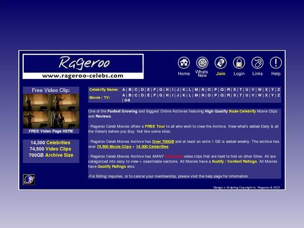 Rageroo Celebs Account Premium