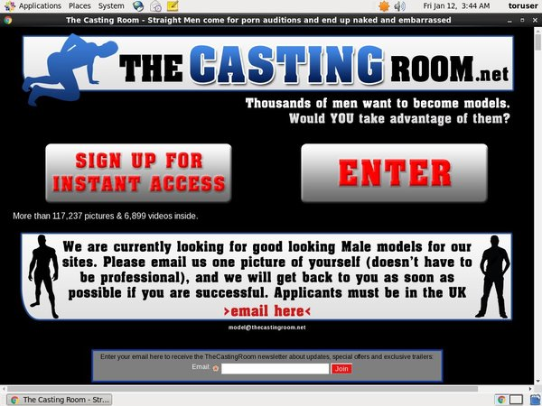 Thecastingroom Wachtwoord