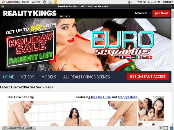 Euro Sex Parties Order Page