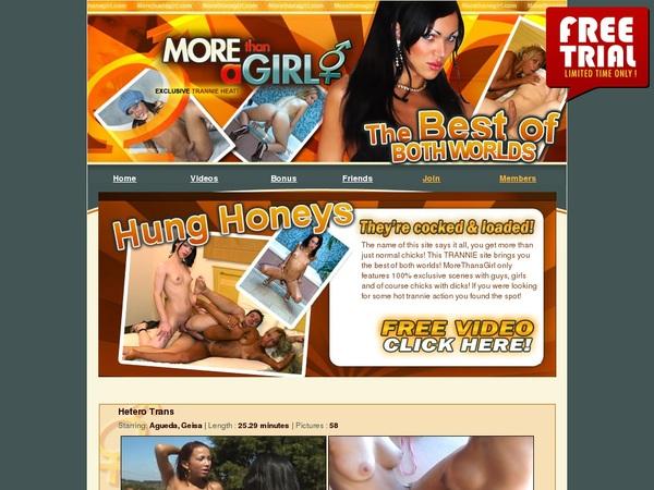 Morethanagirl.com Member Login