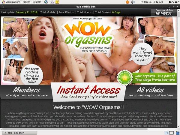 WOW Orgasms Credits