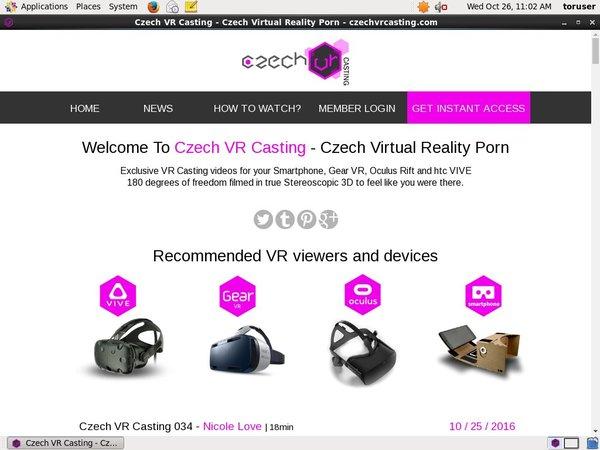 Free Czechvrcasting.com Membership