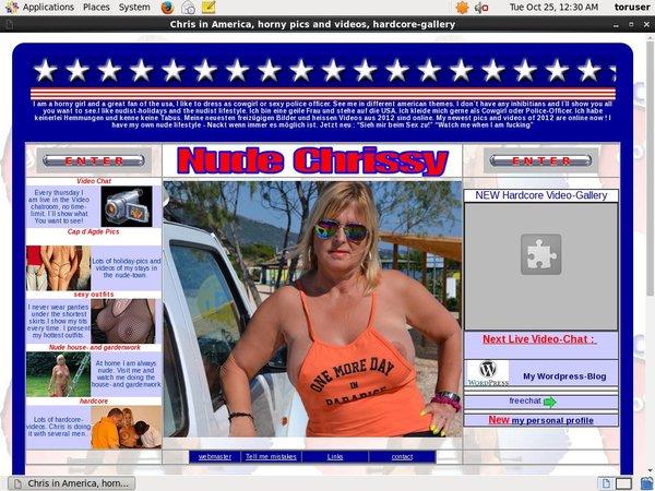 Chrisinamerica.com Sign Up Form